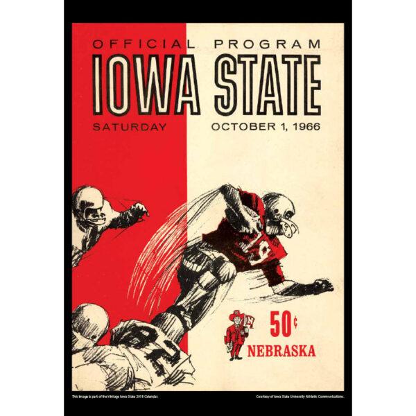 2018 Vintage Iowa State Cyclones Football Calendar   Asgard Press
