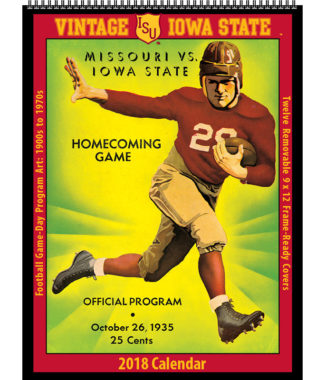 2018 Vintage Iowa State Cyclones Football Calendar
