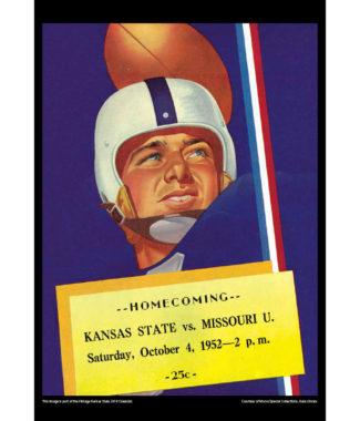 2018 Vintage Kansas State Wildcats Football Calendar July