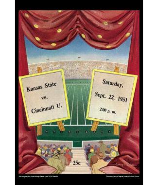 2018 Vintage Kansas State Wildcats Football Calendar September