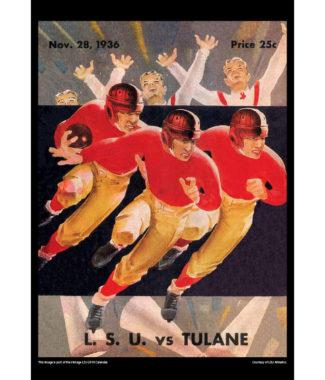 2018 Vintage LSU Tigers Football Calendar November
