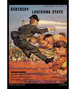 2018 Vintage LSU Tigers Football Calendar April