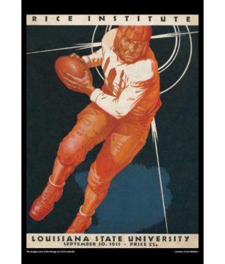 2018 Vintage LSU Tigers Football Calendar August