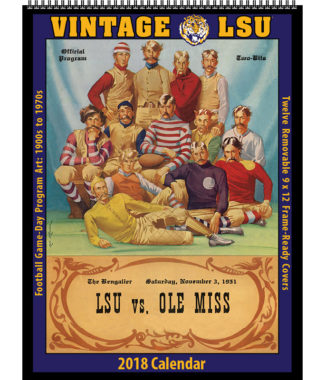2018 Vintage LSU Tigers Football Calendar