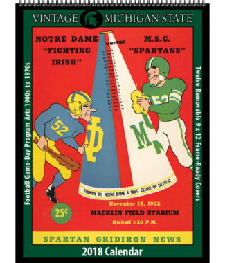 2018 Vintage Michigan State Spartans Football Calendar