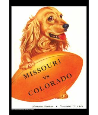 2018 Vintage Missouri Tigers Football Calendar August