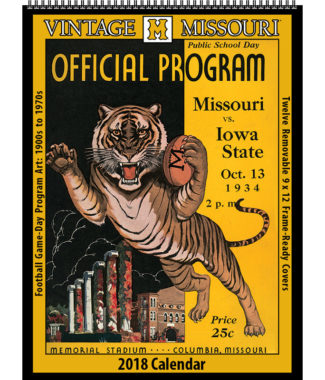 2018 Vintage Missouri Tigers Football Calendar