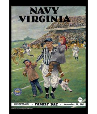 2018 Vintage Navy Midshipmen Football Calendar August