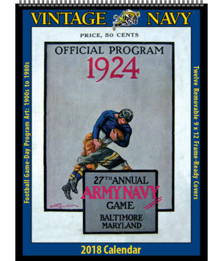 2018 Vintage Navy Midshipmen Football Calendar