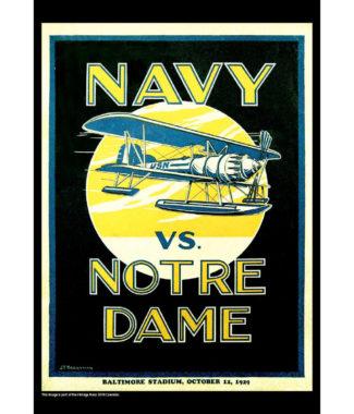 2018 Vintage Navy Midshipmen Football Calendar January