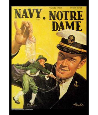 2018 Vintage Navy Midshipmen Football Calendar March