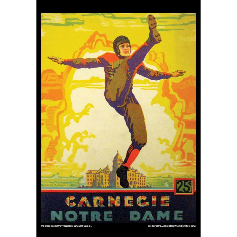 2018 Vintage Notre Dame Fighting Irish Football Calendar November