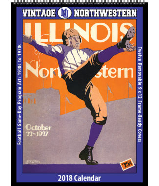 2018 Vintage Northwestern Wildcats Football Calendar