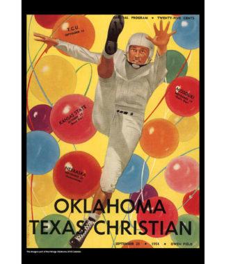 2018 Vintage Oklahoma Sooners Football Calendar October