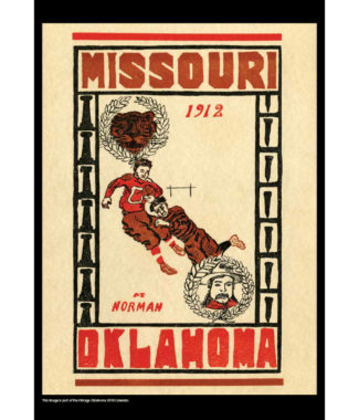 2018 Vintage Oklahoma Sooners Football Calendar November