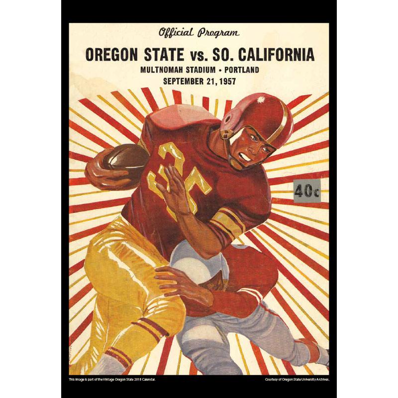 2018 Vintage Oregon State Beavers Football Calendar April