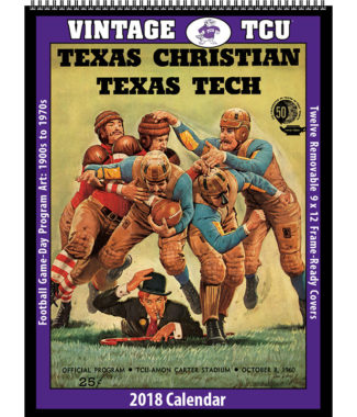 2018 Vintage TCU Horned Frogs Football Calendar