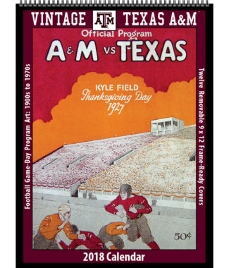 2018 Vintage Texas A&M Aggies Football Calendar