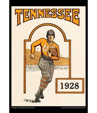2018 Vintage Tennessee Volunteers Football Calendar December