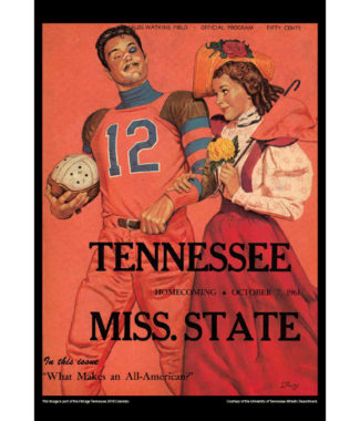 2018 Vintage Tennessee Volunteers Football Calendar February
