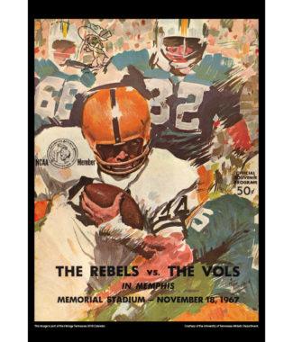 2018 Vintage Tennessee Volunteers Football Calendar June