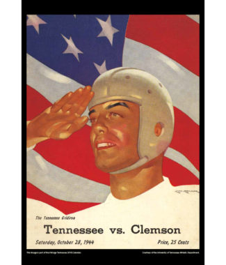 2018 Vintage Tennessee Volunteers Football Calendar July
