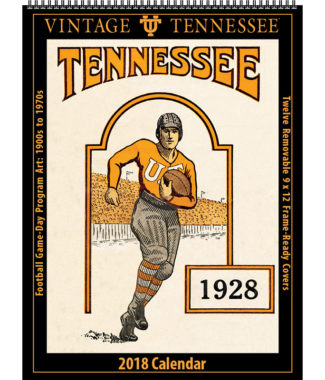 2018 Vintage Tennessee Volunteers Football Calendar