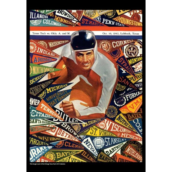 2018 Vintage Texas Tech Red Raiders Football Calendar   Asgard Press