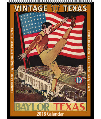 2018 Vintage Texas Longhorns Football Calendar
