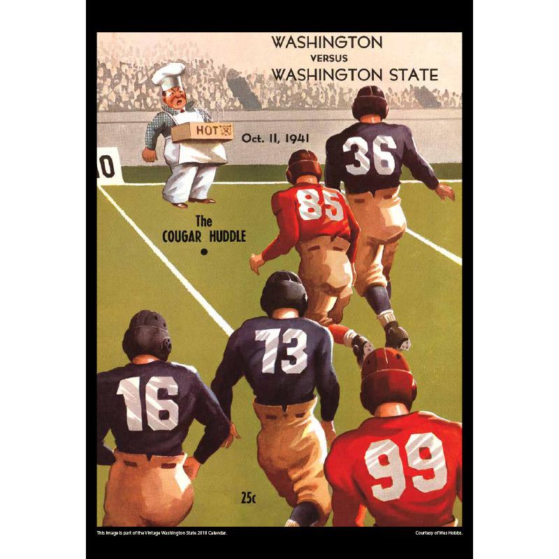2018 Vintage Washington State Cougars Football Calendar November