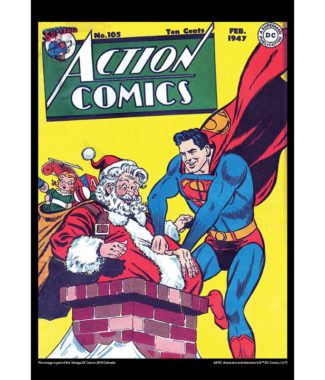 2108 Vintage DC Comics Calendar December Image