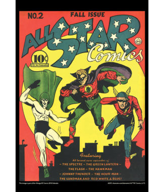 2108 Vintage DC Comics Calendar February Image
