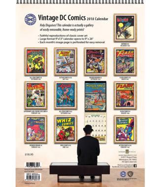 2108 Vintage DC Comics Calendar Back Cover