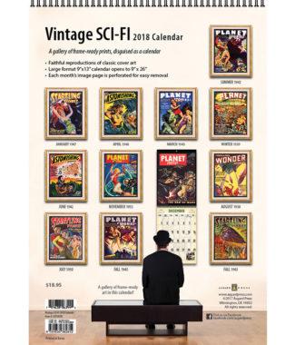 2018 Vintage Sci-Fi Calendar Back Cover