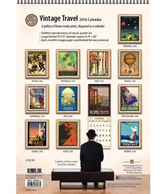 2018 Vintage Travel Calendar Back Cover