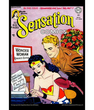 2018 Vintage Wonder Woman Calendar June Image