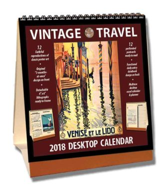2018 Travel Desktop Calendar