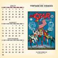 2018 Vintage DC Comics Desktop Calendar July Image