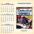 2018 Vintage DC Comics Desktop Calendar June Image