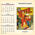 2018 Vintage DC Comics Desktop Calendar May Image