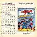2018 Vintage DC Comics Desktop Calendar October Image