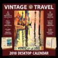 2018 Vintage Travel Desktop Calendar