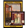 2018 Vintage Travel Calendar and Desktop Combo