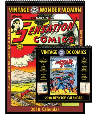 2018 Vintage Wonder Woman Calendar and DC Comics Desktop Combo