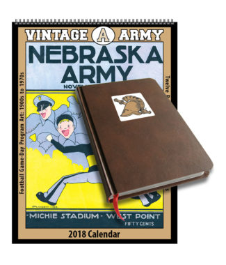 2018 Vintage Army Black Knights Football Calendar / Journal Book Combo Set