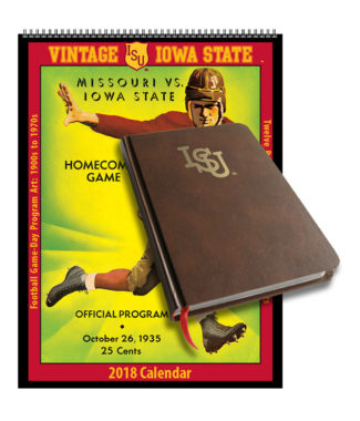 2018 Vintage Iowa State Cyclones Football Calendar / Journal Book Combo Set