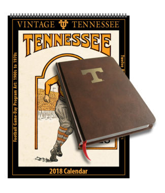 2018 Vintage Tennessee Volunteers Football Calendar / Journal Book Combo Set