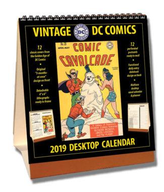 2019 Vintage DC Comics Desktop Calendar