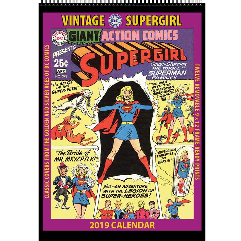 2019 Vintage Supergirl Calendar